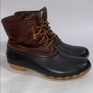 Sperry saltwater duck boots.